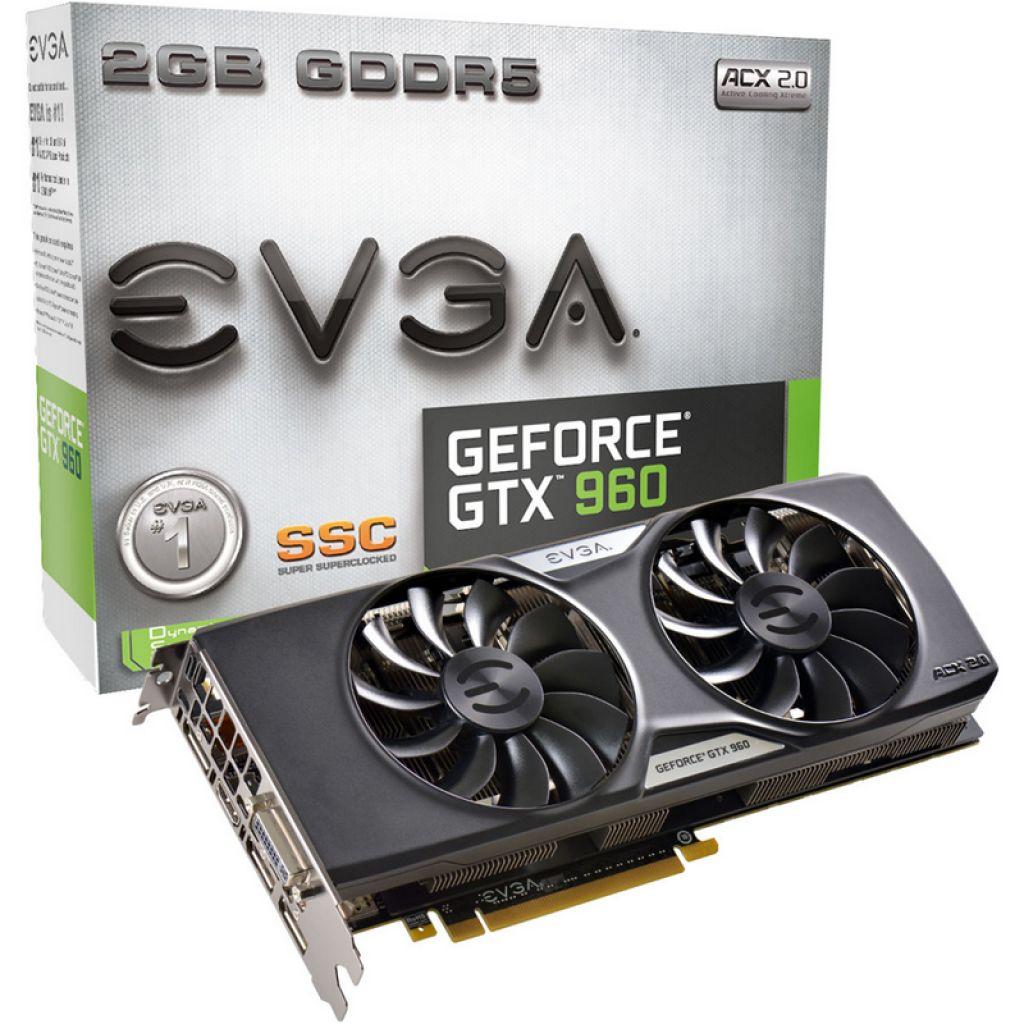VIDEO EVGA GTX 960 2GB DDR5 SSC ACX